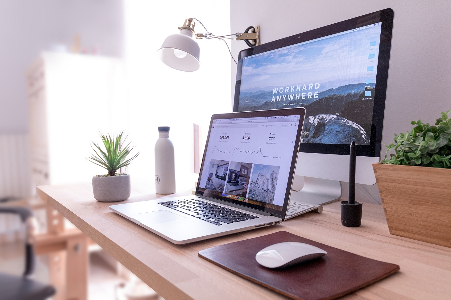 Imagen de escritorio de trabajo