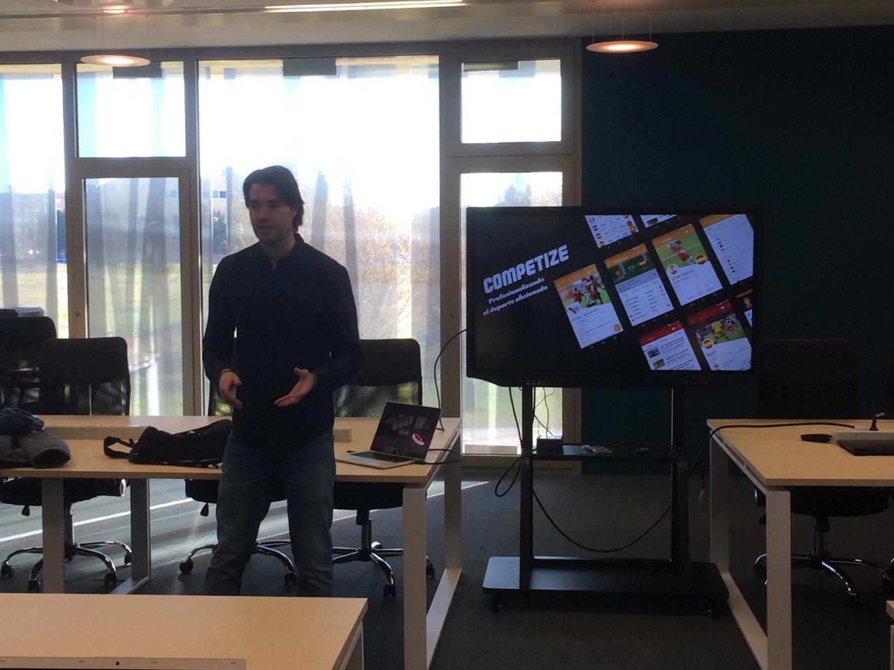 Presentación de Competize en la aceleradora de startups La Atalaya
